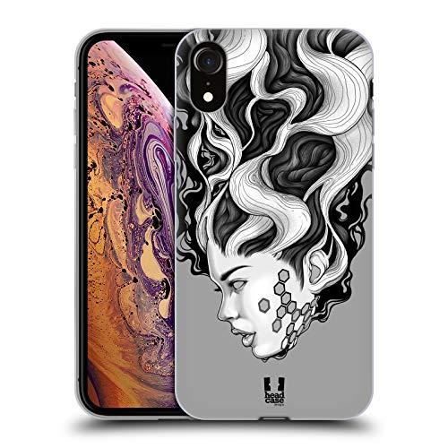 Head Case Designs Android Retratos surrealistas Carcasa de Gel de Silicona Compatible con Apple iPhone XR