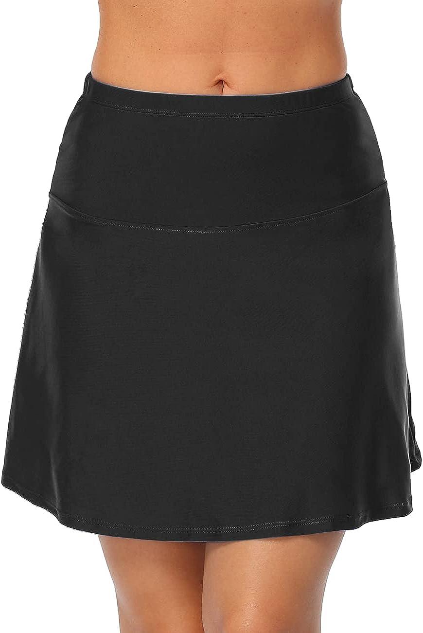 coastal rose Women's Long Swim Skirt High Waisted Bikini Bottom Swimsuit Bottoms