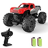 Remote Control Cars Amphibious RC Truck RC Cars Remote Control Monster Truck| Waterproof 4WD Large Monster Truck| with 2 Rechargeable Batteries | for Boys Kids and Adults | Gifts for Boys