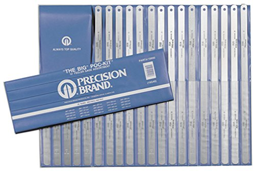 Precision Brand Steel Thickness Feeler Gage Poc-Kit Assortment