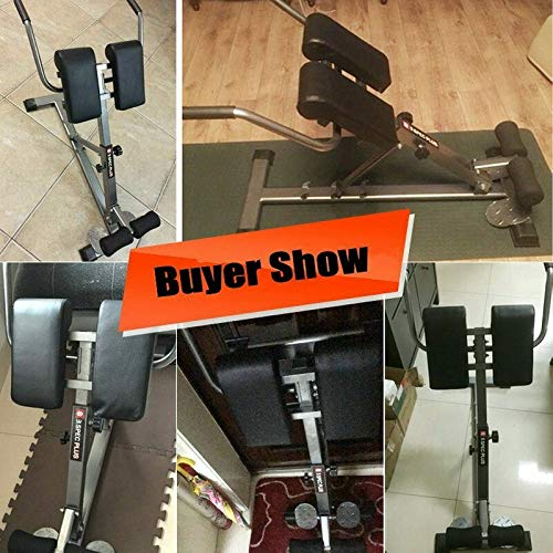 Product Image 6: HULKWHEELS Bench Roman Chair Back Hyperextension Adjustable AB Bench Hyperextension Exercise Hyper Bench Strength Training Back Machines (Black)