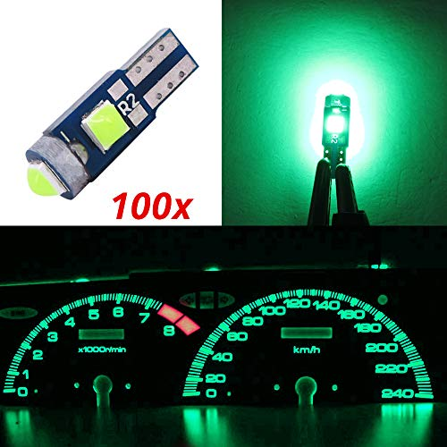 20 Pack WLJH Canbus Extremely Bright Pc74 Twist Lock Socket T5 2721 286 73 74 Led Lights Powerful 3SMD 3030 Chip Instrument Panel Cluster Gauges Dash Indicator Light Bulb Kits 12V White