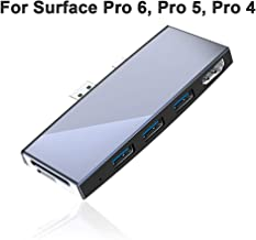 Surfacekit for Microsoft Surface Pro 6/ Surface Pro 5/ Surface Pro 4. SD/Micro SD Card Reader & Portable Dock with Proprietary Interface- 3 x USB 3.0 - HDMI (4K@30Hz) - Aluminum Shell