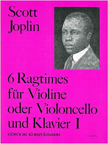 6 Ragtimes: für Violine (Violoncello) und Klavier