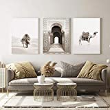 QZROOM Marokkanische Bogenmalerei Islamische Kamelwüste