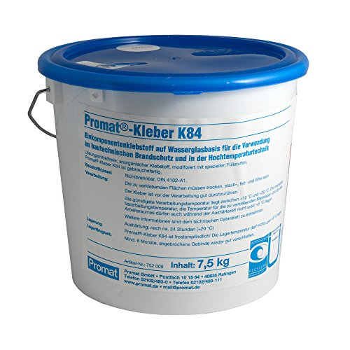 Promat Kleber, hitzebeständig, 7,5 kg Eimer (1 kg = 6,66 €)
