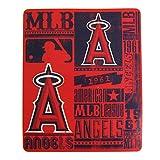 Northwest MLB Los Angeles Angels Fleece Throw Blanket 50 inch by 60 inch