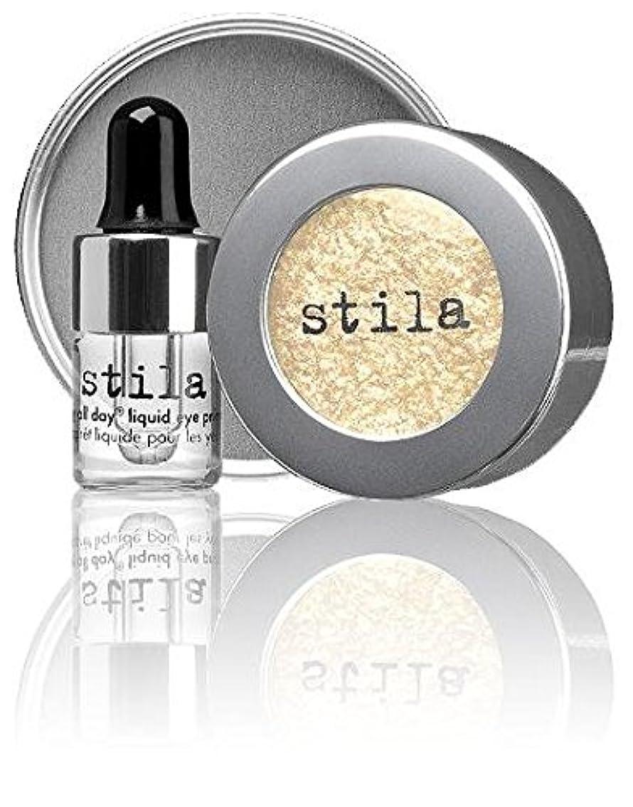 大声でエネルギー少しスティラ Magnificent Metals Foil Finish Eye Shadow With Mini Stay All Day Liquid Eye Primer - Metallic Pixie Dust 2pcs並行輸入品
