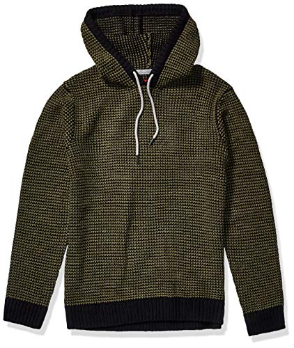 UNIONBAY Men's Drawcord Sweater Hoodie, Olive Night, Large