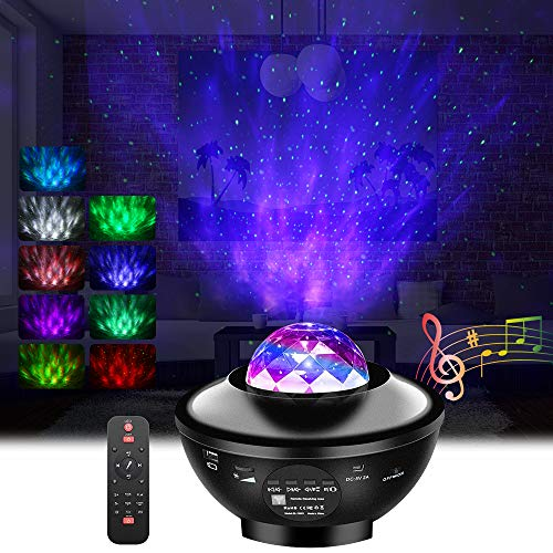 Galaxy Projector,GoLine Star Light Projector for Bedroom, Nebula Projector Night Light with Bluetooth Speaker for Party Room Decoration,Best Christmas...