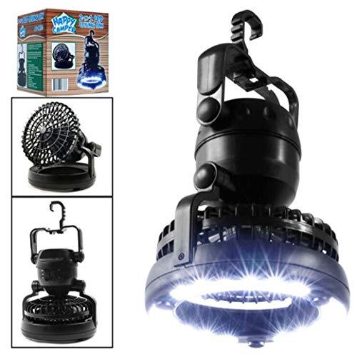 Led-campingzaklamp, 2-in-1, 18 led, draagbaar, met plafondventilator, noodgevallen/Hurkan/stroomuitval/een van de beste transmissies als camping, ventilatorlamp
