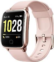 ساعت هوشمند هوشمند ، ساعت مچی مردانه IP68 ضد ردیاب تناسب اندام ضد آب ضربان قلب با مراحل کالری شمارنده ردیاب خواب ، ساعت هوشمند سازگار با تلفن های iPhone و Android