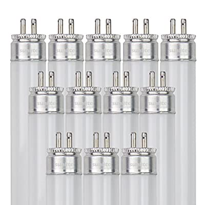 Sunlite F8T5/WW 8-watt T5 Linear Fluorescent Light Bulb Mini Bi Pin Base, Warm White