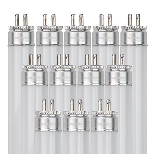 Sunlite F54T5/850/HO/12PK T5 High Output Performance Mini Bi-Pin (G5) Base Straight Tube Light Bulb (12 Pack), 54W/5000K, Soft White