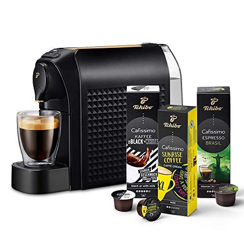 Tchibo Cafissimo easy Kapselmaschine (für Kaffee, Espresso und Caffè Crema) inkl. 30 Kapseln, Gold