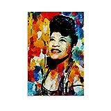 Ella Fitzgerald 4 Poster auf Leinwand, Wandkunst, Deko,