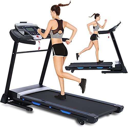 ANCHEER Treadmill WM04, Folding Treadmill for Home with Automatic Incline, Bluetooth Speaker and LCD Display,3.25Hp Electric Treadmill Machine for Running Walking,300 LBS Max Weight, Easy Assembly