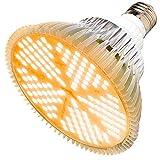 MILYN Lampada per Piante 100W, E27 Luce Piante LED Spettro Completo LED Grow Light, Lampada Piante Coltivazione Indoor per Piante da interno Serra Crescita, Fioritura e Fruttificazione