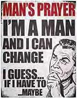 Man Prayer ブリキ 看板 輸入品 ビンテージ風 38×30cm