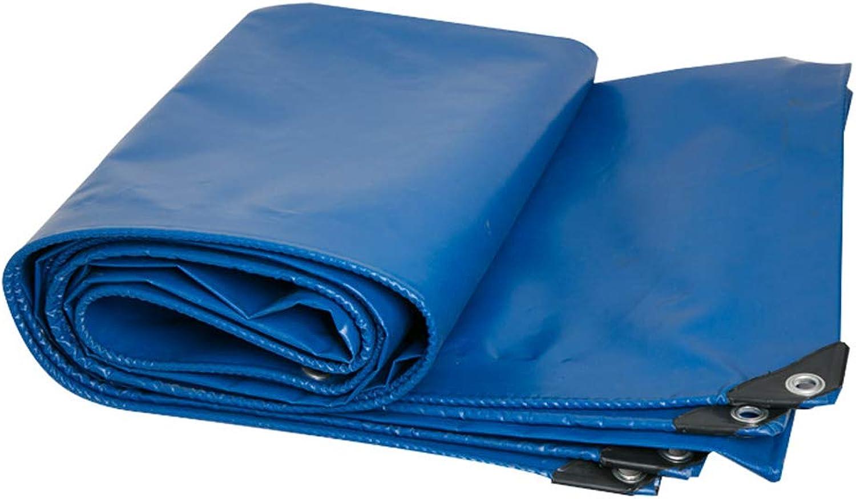 FEZBD wasserdichte Kunststoff-Polyplane mit Metallsen für Dach, Camping, Outdoor, Patio. Regen oder Sonne (reversibel, blau)