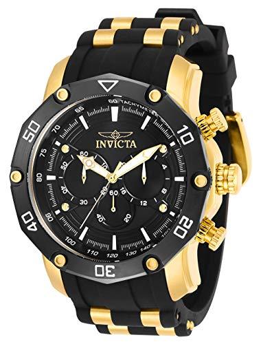 Invicta Men's Pro Diver Quartz Watch with Stainless Steel Strap, Black, 26 (Model: 30080)