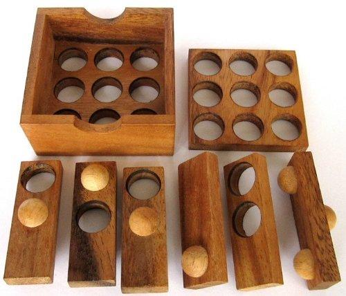 Golf Puzzle – 3D Puzzle – Denkspiel – Knobelspiel – Geduldspiel – Logikspiel aus Holz - 3