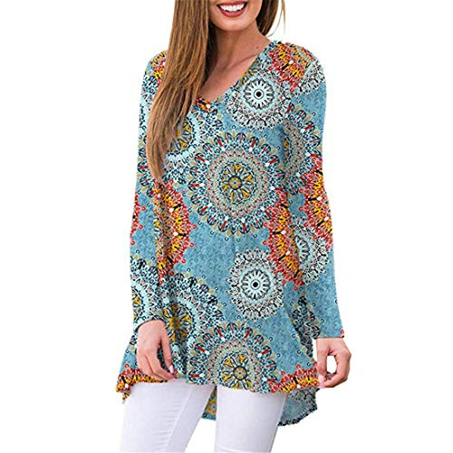 Damen Bluse Langarm T-Shirt Niedliche Casual Bluse Tops V-Ausschnitt Sweatshirt Damen...