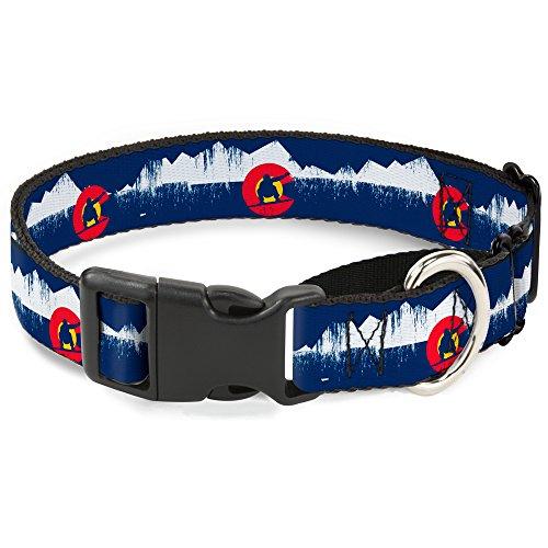 Buckle Down mgc-w35501-wm Colorado Snowboarder/Verschneite Bergwelt verwitterter Martingale Hundehalsband, Medium