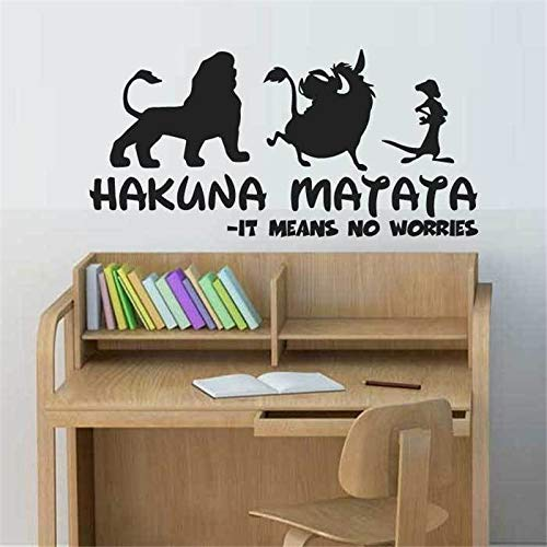 wangpdp Hakuna Matata Citation Simba Timon Pumbaa Stickers Muraux Enfants Chambre Décor À La Maison
