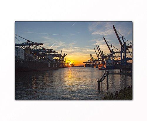 PB Art - Hamburger Werft als Kunstdruck auf Leinwand und Holzkeilrahmen - Beste Qualität, handgefertigt in Deutschland! (40x60cm)