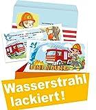 Feuerwehr Einladungskarten Kindergeburtstag 8er Set (8