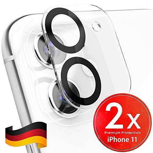 UTECTION 2X Kamera Glasfolie für iPhone 11 - Einfache Anbringung, Anti Kratzer - Keine Beeinträchtigung von Blitz oder Sensoren - Kameraschutz Schutzglas - Glas Schutzfolie