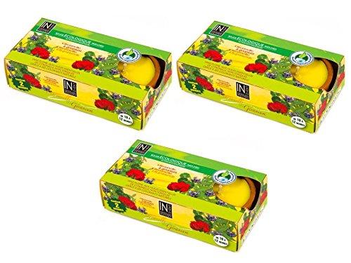 Nel Canto ecologica candele alla citronella e geranio scatola di 2 candele 60 g - 3 Pack