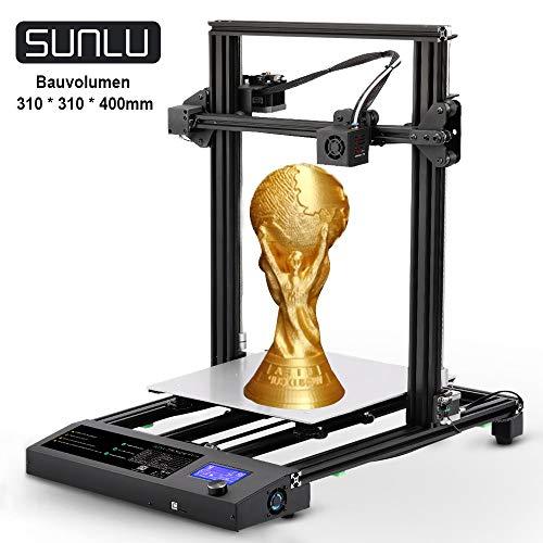 SUNLU 3D Drucker Schnelle Montage DIY Kit, 3D- Drucker Druckgröße 310x310x400 mm, Filament Ende Detektor und Resume-Printing-Funktion