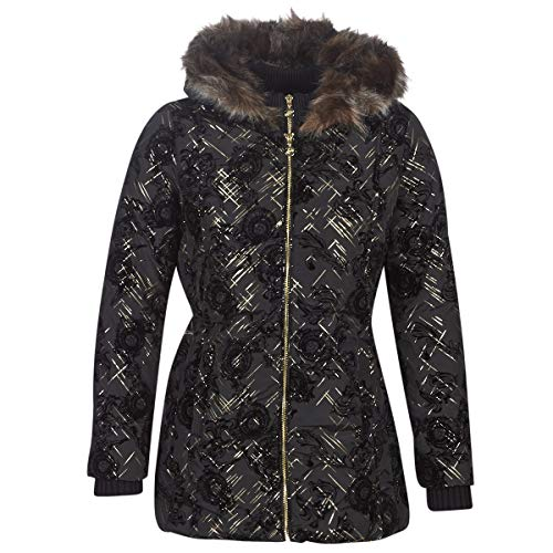 Desigual Black Jacket Padded Eylau Daunen Mantel 19WWEW75 Black (42)