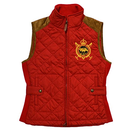 Polo Ralph Lauren - Chaleco Acolchado Ecuestre para Mujer - Rojo - Small