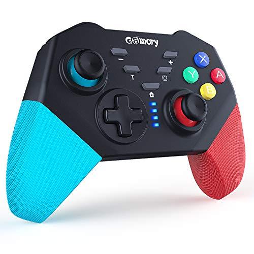 Gamory Controller Ersatz fur SwitchBluetooth Wireless ProGamepad Mit Einstellbarem Turbo und Dual Shock Joysticks Spiele Handkonsolen