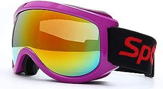 ErYao Ski Goggles Snowboard Goggles, High Transparency Spherical Lenses Wind Goggles UV Protection Ski Goggles Snow Goggles for Men & Women