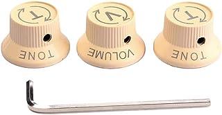 1セットGD118 2T1Vエレキギターとベーストーンボリューム電子制御ノブキャップレンチ(ベージュ)