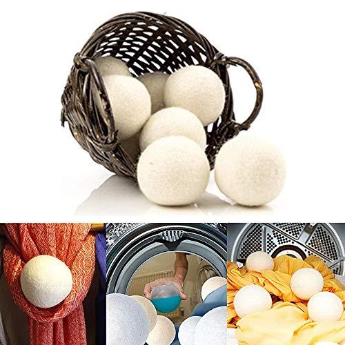 Fijner 6 stks/pak wasgoed schone bal herbruikbare natuurlijke organische was wasverzachter bal Premium biologische wol droger ballen