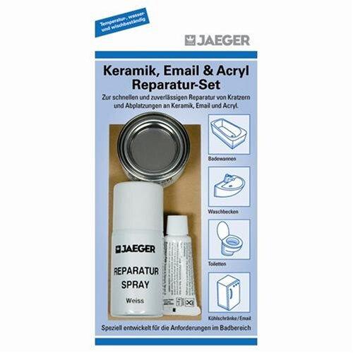 Jaeger Keramik und Emaille Reparatur Set - reinweiss