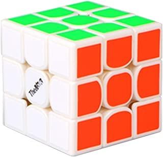 HJXD globle New Valk 3 Mini Magic Cube 3x3x3 Sticker Puzzle Cube White