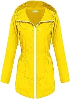 Womens Lightweight Hooded Waterproof Active Outdoor Raincoat Jackets