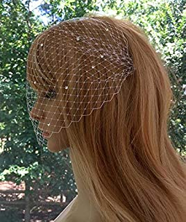 Birdcage Wedding Veil Blusher Art Deco Bridal Veil