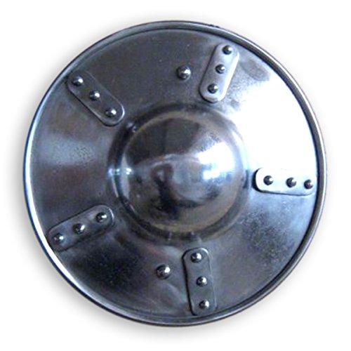 GDFB Mittelalter Buckler mit Holzgriff - flach - Durchmesser 30 cm, LARP, Reenactment