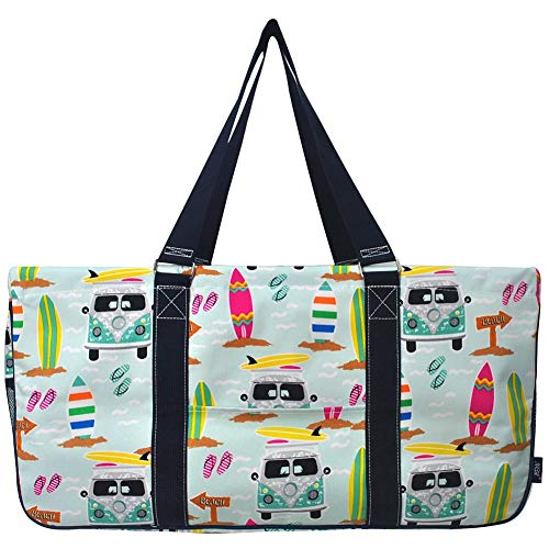 NGIL All Purpose Open Top 23' Classic Extra Large Utility Tote Bag 2019 Collection (Surf Beach Navy)