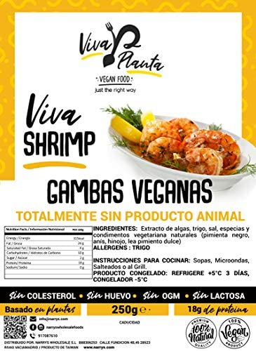 Gambas Veganas, 250g Viva Planta | Vegan | Sin carne | 100% Vegetal | Plant Based | Sin Gluten (Pack de 3)