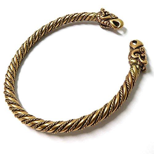 Drachensilber Wikinger Schmuck Armreif Raben Bronze Armschmuck Odins Raben Herren Armspange Hugin und Munin