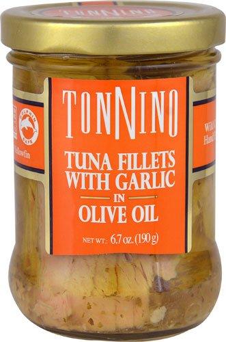Tonnino Tuna Fillets with Garlic in Olive Oil -- 6.7 oz - 3PC