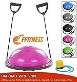 Balón de Entrenamiento con Gomas elásticas (diámetro de 60 cm) para Fitness, Yoga, Pilates,...